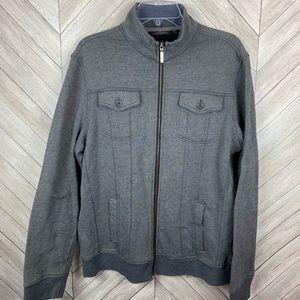 Marc Anthony men's gray zip up jacket. XL